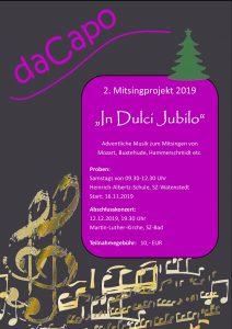 """In dulci jubilo"" – 2. Mitsingprojekt 2019"