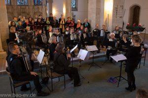Weihnachtskonzert des Braunschweiger Akkordeon-Orchesters 2018 mit Chorkooperation daCapo/Kantorei Vocale
