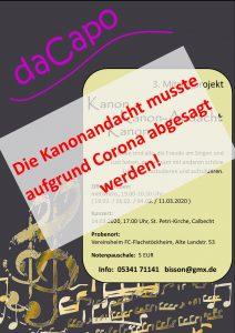 Konzert-Absage wegen Corona