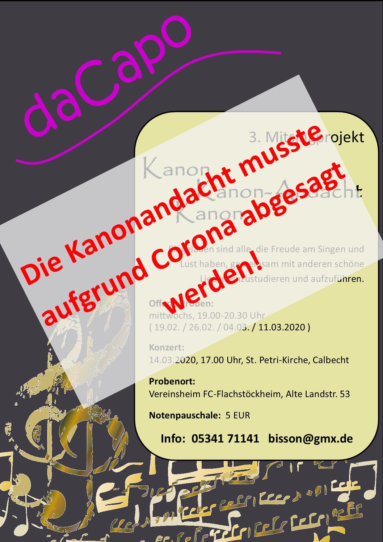 Konzert-Absage